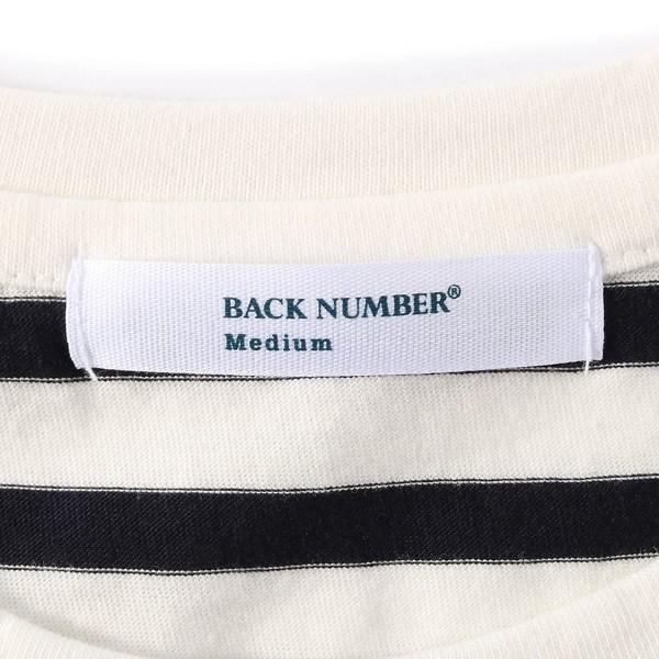 ライトオン(レディース)(Right-on)/【BACK NUMBER】オーガニックコットンボーダー柄半袖Tシャツ ウィメンズ