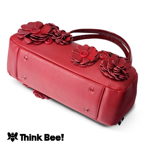 シンクビー(Think Bee!)/ノスタルジーレッド 口金バッグ
