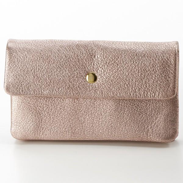 ペルケ(perche')/ソフトバッファロー袋縫いかぶせ長財布