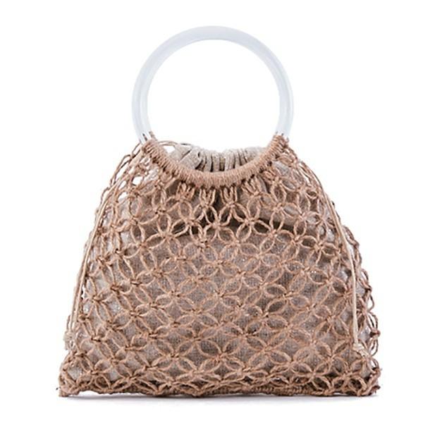 ラウゴア(Laugoa)/LAGUOA(ラウゴア)一つ一つ丁寧に編み上げられたマクラメ編みミニハンドバッグ/Cannes