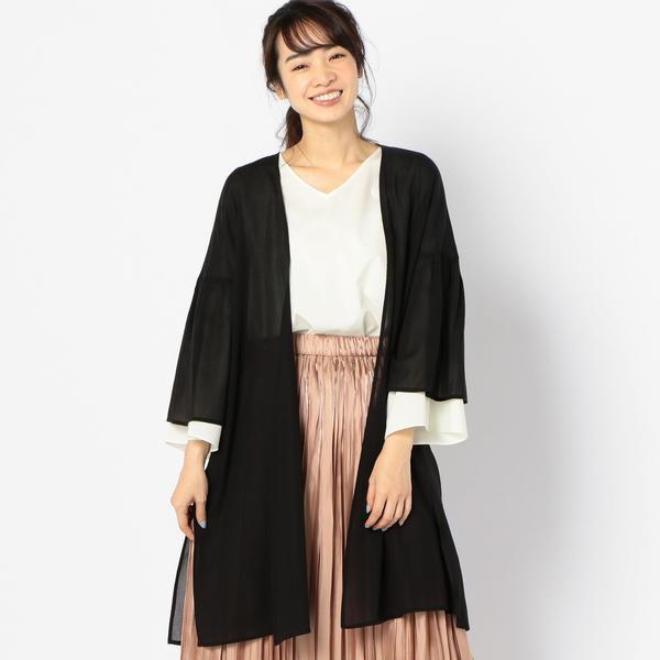 シップス(レディース)(SHIPS for women)/C+: 強撚コットンロング羽織り