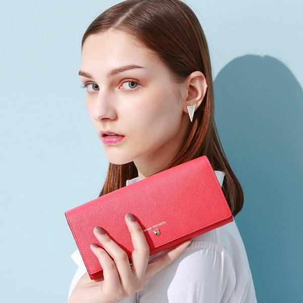 トプカピ(TOPKAPI)/CLASSICO[クラシコ]角シボ型押し・かぶせのフタ長財布