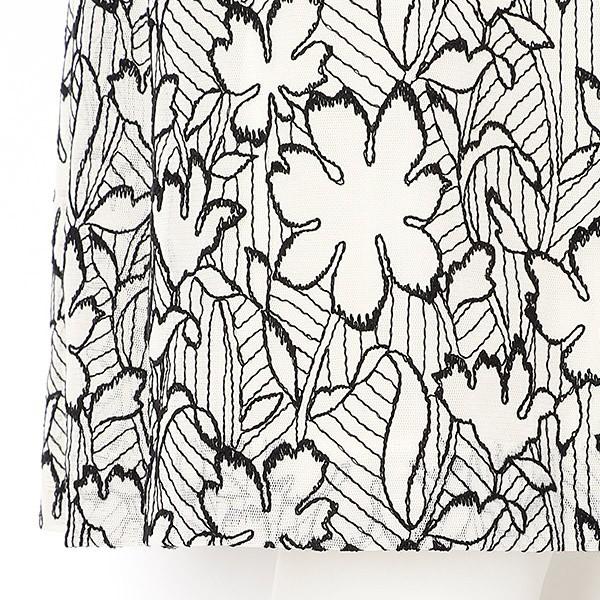 ピサーノ(PISANO)/全2色【大きいサイズ】【L・LL】フラワー刺繍チュールワンピース