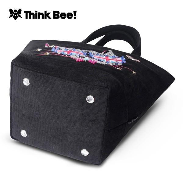 シンクビー(Think Bee!)/ランナウェイキャッツ ミニトートバッグ(ブラック)