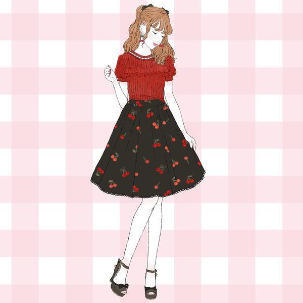 ロディスポット(LODISPOTTO)/Sweet Cherryスカート / mille fille closet