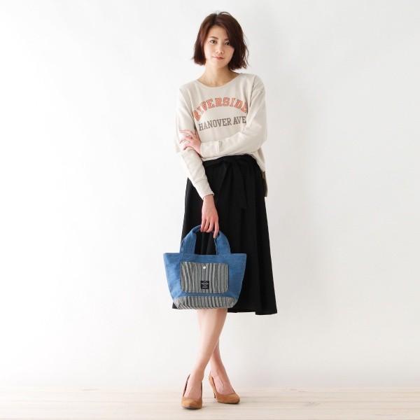 【NEW】ハッシュアッシュ(レディス)(HusHusH Ladies)/異素材コンビミディトートバッグ