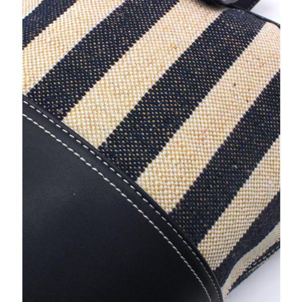 セッティミッシモ(Settimissimo)/ストライプ切替2WAYバケツ型バッグ