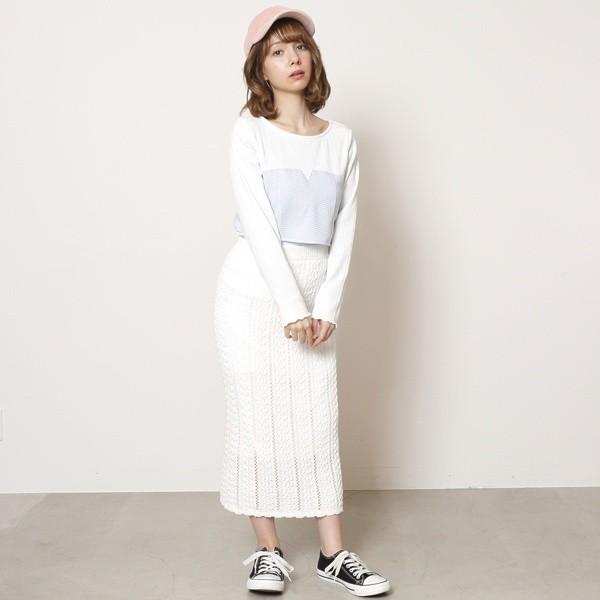 レイカズン(RAY CASSIN)/透かし編みニットロングスカート