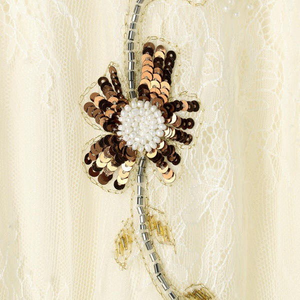goa(goa)/ホワイトリバーレース フラワーメタル刺繍スカート