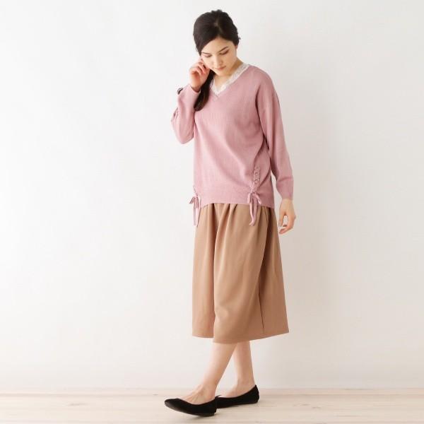 シューラルー(レディス)(SHOOLARUE Ladies)/ふくれジャガードワイドパンツ