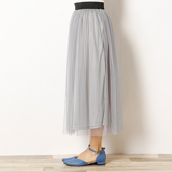 【NEW】エージープラス(a.g.plus)/チュールスカート