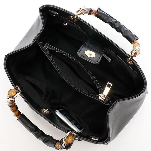 セシルマクビー(CECIL McBEE)/バンブー調ハンドルハンドバッグ