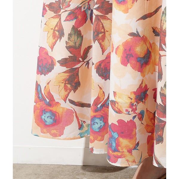 【NEW】ビス(ViS)/ボタニカルマキシスカート
