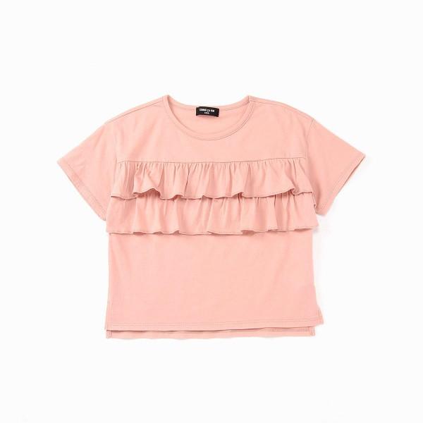 9eedc1262ad13 コムサイズムキッズ(COMME CA ISM) ナチュラルフリルTシャツの通販は ...