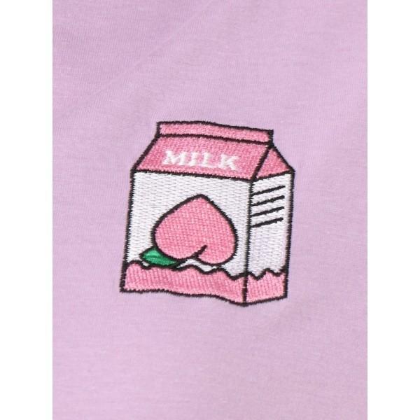 【NEW】ウィゴー(レディース)(WEGO)/ウィゴー(WC/ピーチミルクTシャツ)