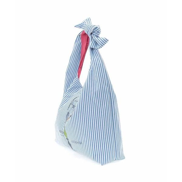 【NEW】ホコモモラ(JOCOMOMOLA)/ストライプ&プリントトートバッグ