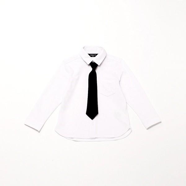 d3dd603e21e7a コムサイズムキッズ(COMME CA ISM) ネクタイ付き 長袖シャツ (100cm~130cm