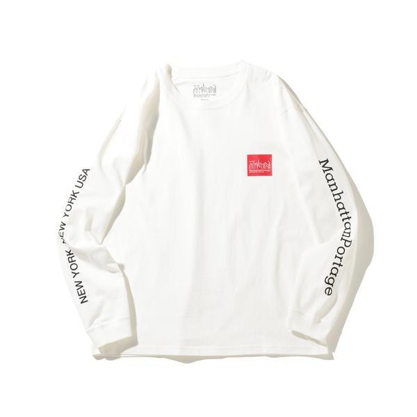 (Bming lifestore MC) Portage / (メンズカジュアル) ロゴ Manhattan プリントTシャツ/ ビーミングライフストア