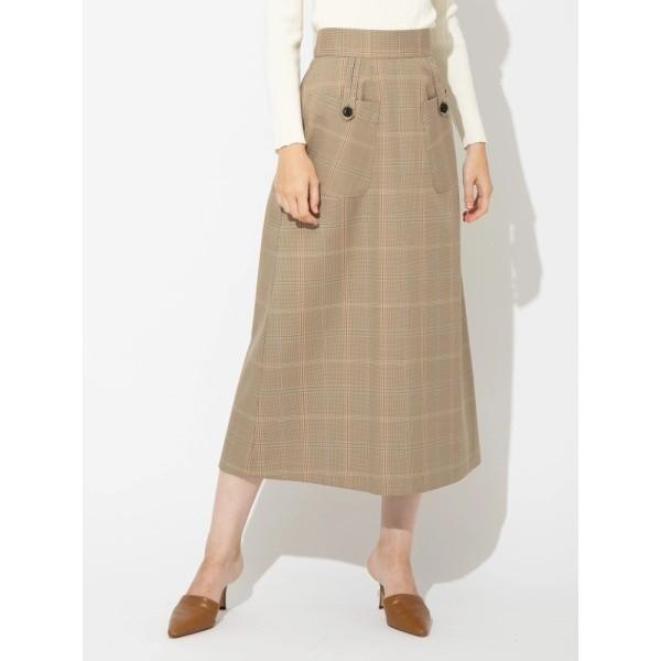 ソフィラ(sophila)/ウールチェックナロースカート