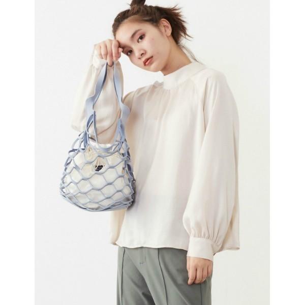 プードゥドゥ(POU DOU DOU)/巾着付きスエード編みバッグ