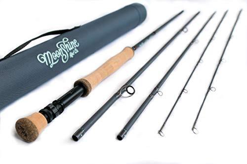 特別価格送料無料Moonshine Rod Co The Outcast Series Saltwater Hybrid Fly Fishing Rod with Carrying Case and