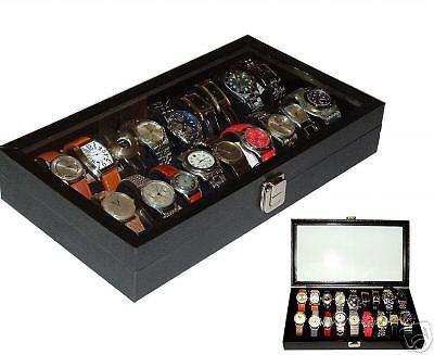 18 Watch Case Storage Organizer Display Box for Watches