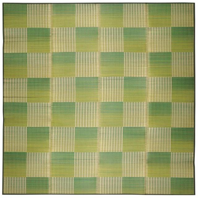 円高還元 い草コンパクトラグ(裏貼り) クレパス 約240×240cm グリーン 81909123, ウチタチョウ 5d0ddc2a