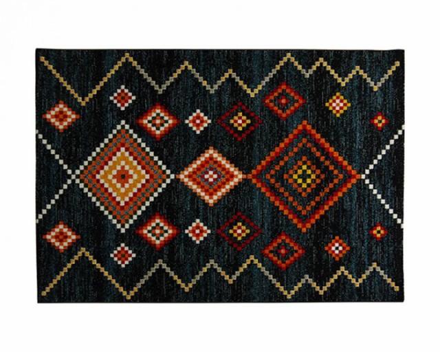 最高級 トルコ製 ウィルトン織り カーペット 約160×230cm ネイビー 2353239, ANCH CRASH(アンククラッシュ) 8e5d5bf9