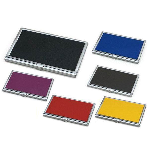 カラーカーフレザー メタルカードケース XM912