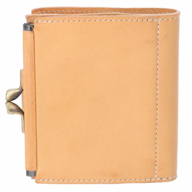 c80e0fa6f7a7 イルビゾンテ IL BISONTE 財布 がま口 レディース メンズ ミニ財布 二つ折り財布 ヌメ ベージュ系 C1033