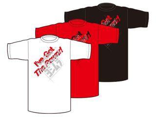 ヨシムラ YOSHIMURA カジュアルウェア Tシャツ(I've Got The Power!) 白 S