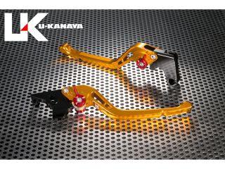 ユーカナヤ イントルーダーLC250 レバー GPタイプ アルミ削り出しビレットレバー(レバーカラー:ゴールド) ブラック