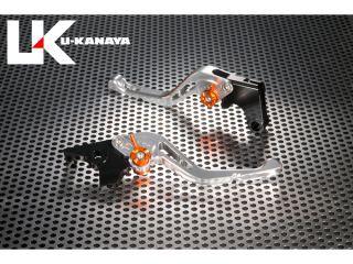 ユーカナヤ GSX1400 レバー GPタイプ アルミ削り出しビレットショートレバー(レバーカラー:シルバー) チタン