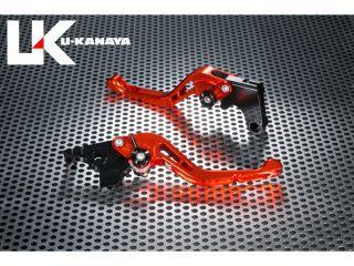 ユーカナヤ GSX400Sカタナ レバー GPタイプ アルミ削り出しビレットショートレバー(レバーカラー:オレンジ) グリーン