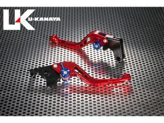 ユーカナヤ RG250ガンマ レバー GPタイプ アルミ削り出しビレットショートレバー(レバーカラー:レッド) チタン