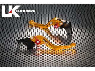 ユーカナヤ グース250 グース350 レバー GPタイプ アルミ削り出しビレットショートレバー(レバーカラー:ゴールド) グ…