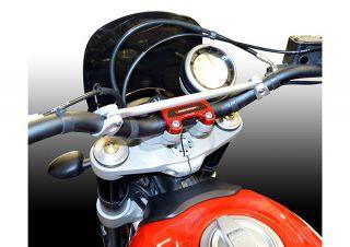 ドゥカバイク DUCABIKE ハンドル周辺パーツ ハンドルクランプ SCRAMBLER 直径 28mm用 レッド