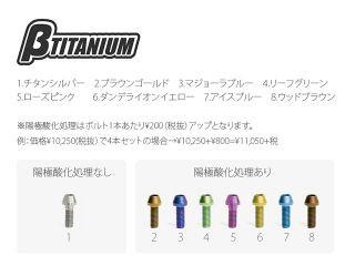 ベータチタニウム ニンジャZX-6R その他ブレーキ用パーツ フロントキャリパーマウントボルトキット ブラウンゴールド(陽極酸…