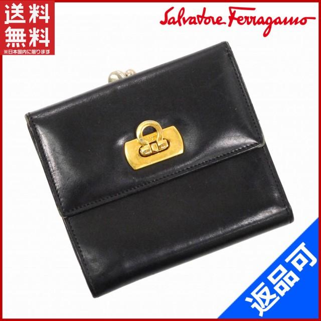 100% authentic 84002 3136b サルヴァトーレ・フェラガモ 財布 Salvatore Ferragamo 二つ折り ...