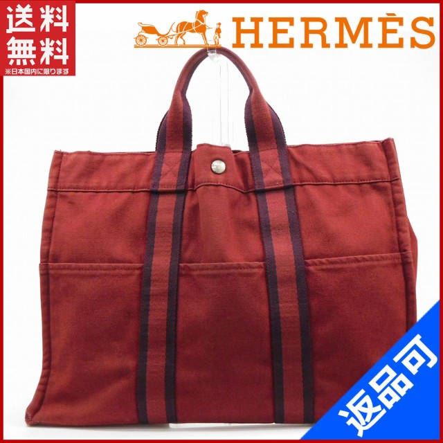 sports shoes 481b5 4a817 エルメス バッグ HERMES トートバッグ フールトゥトートMM ボルドー 人気 即納 【中古】 X12244
