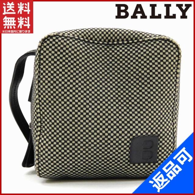 1b4e97665901 バリー バッグ BALLY ショルダーバッグ キューブ型 グレー×ブラック 即納 【中古】 X12545