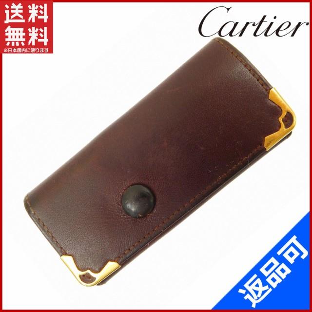 ab4ffe4fe00b カルティエ キーケース Cartier キーケース 4連キーケース マストライン ボルドー 即納 【中古
