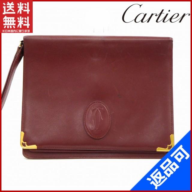 buy popular 91157 e4194 カルティエ バッグ Cartier セカンドバッグ ポーチ マストライン ボルドー 即納 【中古】 X13141