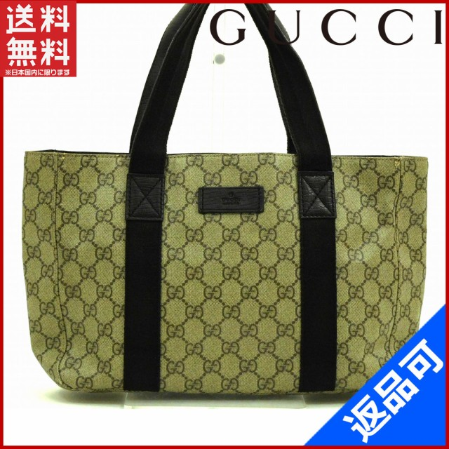 db1af9be1573 グッチ バッグ GUCCI トートバッグ ベージュ×ブラウン 送料無料 即納 【中古】 X13255