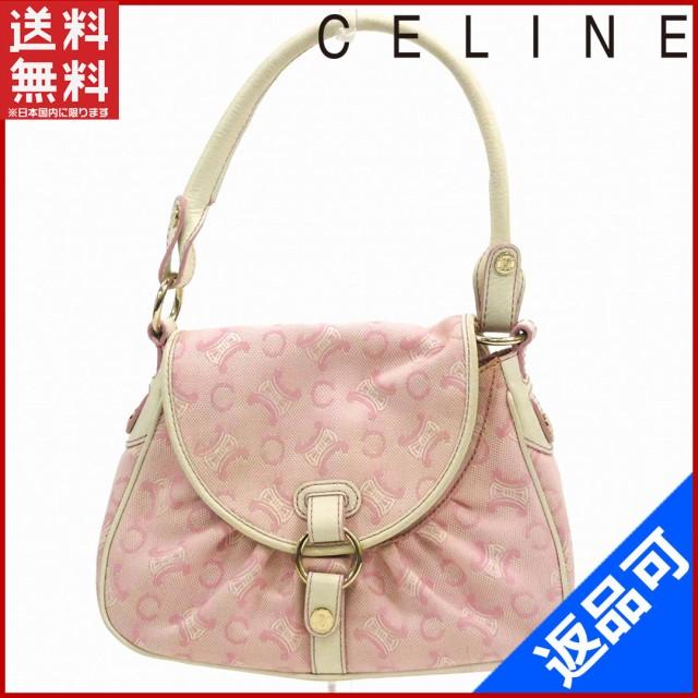 new style 664ff 2e4c3 セリーヌ バッグ CELINE ハンドバッグ ホワイト×ピンク 即納 【中古】 X14665