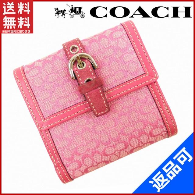 buy popular 31305 13322 コーチ 財布 COACH 二つ折り財布 Wホック財布 ピンク 即納 【中古】 X14770