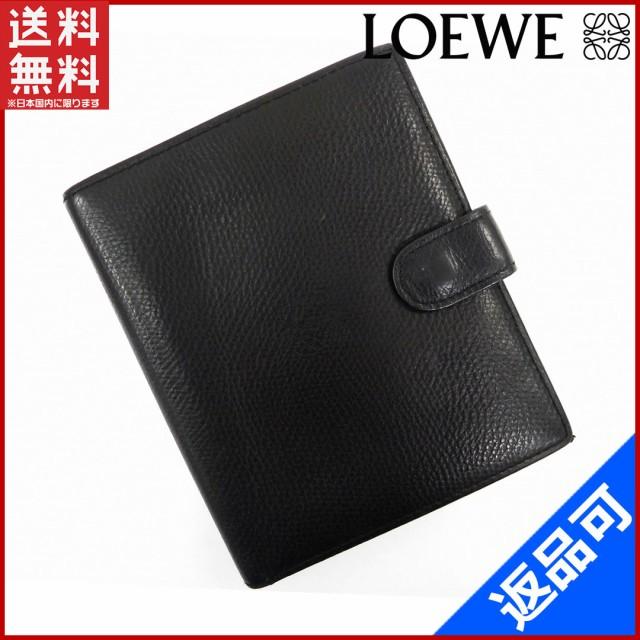 buy popular 604de ece40 ロエベ 財布 LOEWE 二つ折り財布 ブラック (激安・即納) 【中古】 X5062