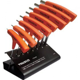 TRUSCO T型ハンドルボールポイント六角棒レンチセット 8本組 TTB8S