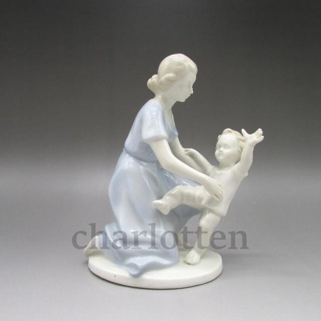 グレフェンタール / 母子のフィギュリン【 磁器人形 】【 中古 】【 Grafenthal 】【 u5349 】【 送料無料 】