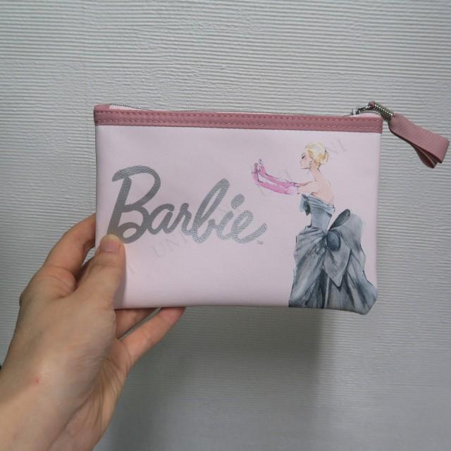 バービー フラットポーチ ピンク 小物入れ ファッション スクエアポーチ 角型ポーチ 化粧ポーチ ペンポーチ